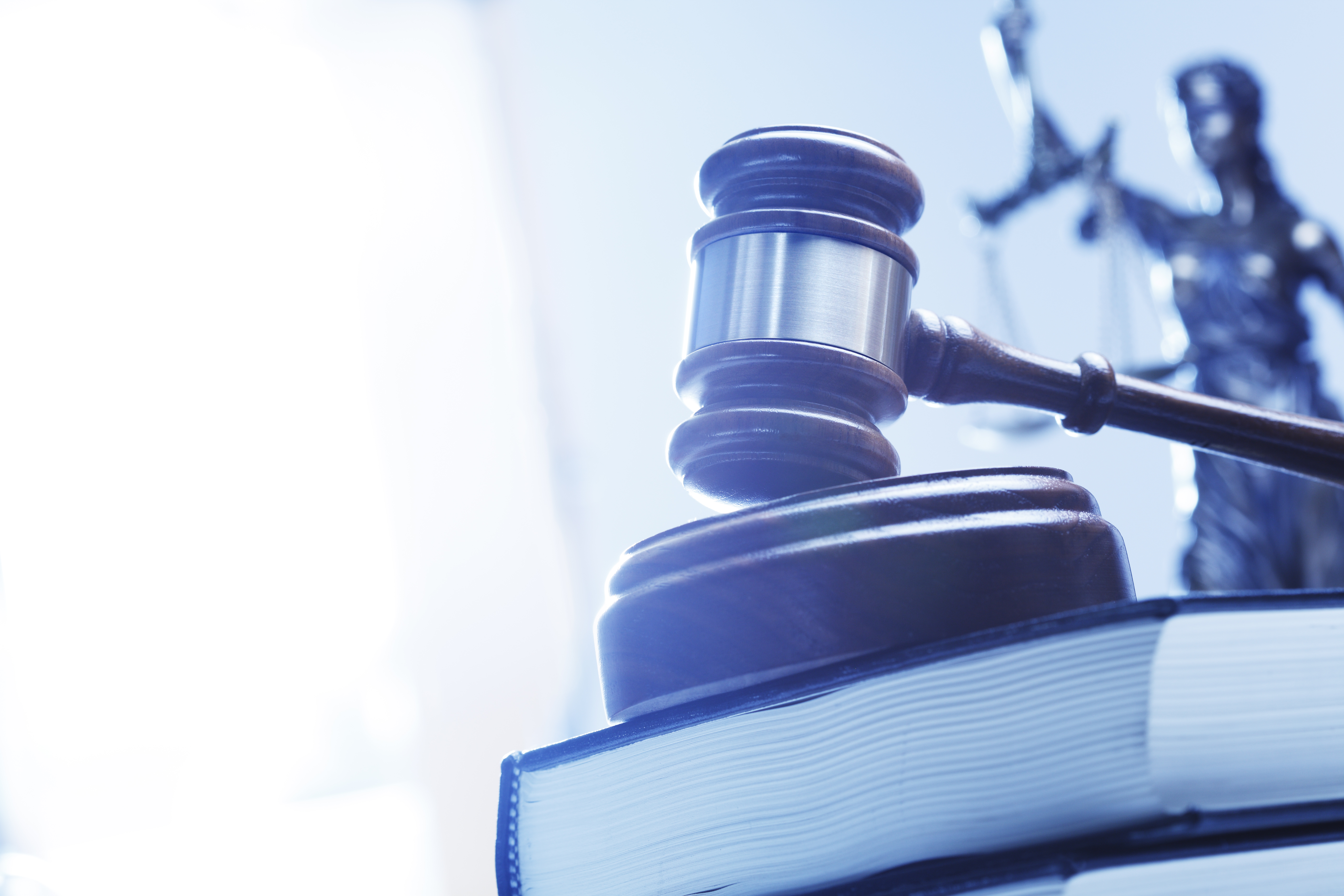 gavel on top of legal books